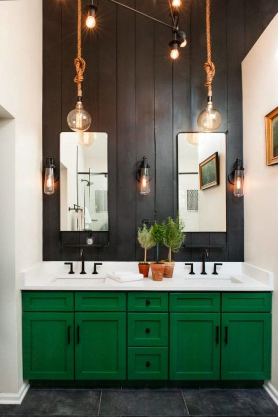 colored bathroom vanity 15