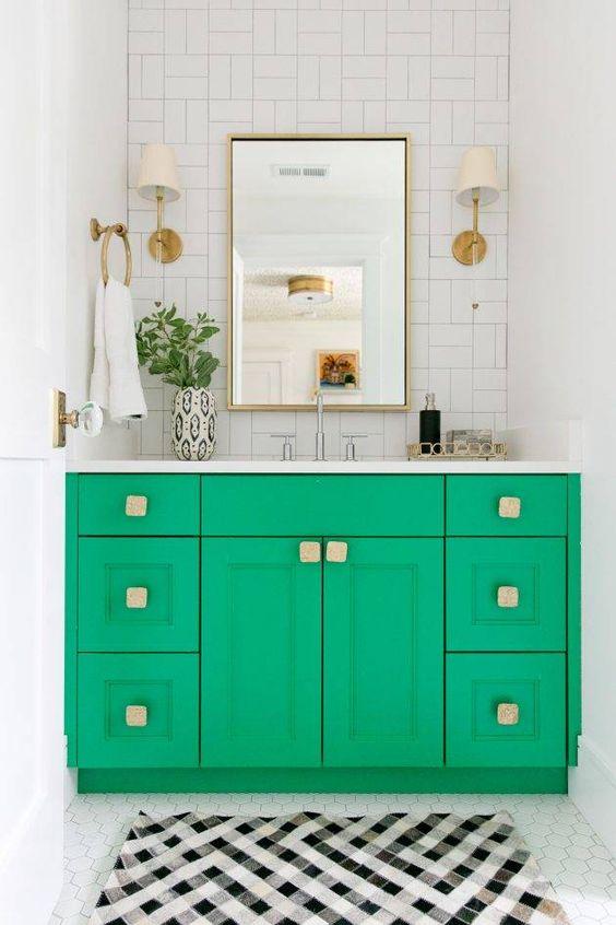 colored bathroom vanity 16