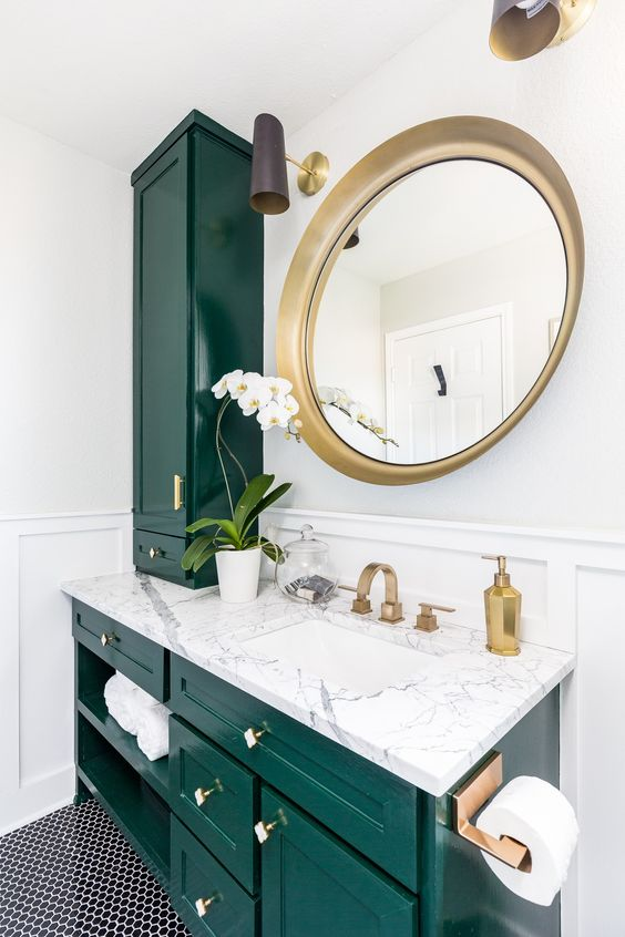 colored bathroom vanity 17
