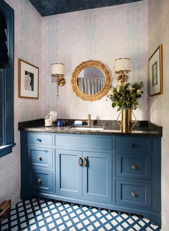 colored bathroom vanity 18