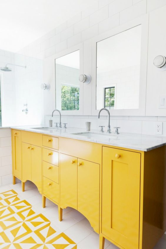 colored bathroom vanity 24
