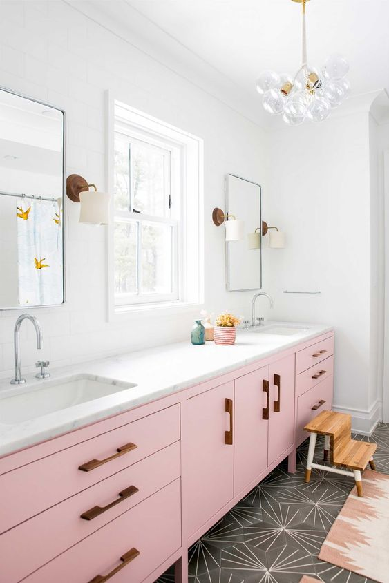 colored bathroom vanity 9
