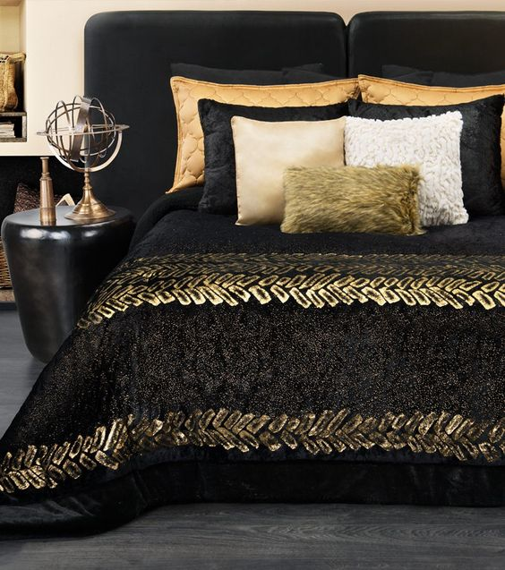 gold bedroom ideas 13