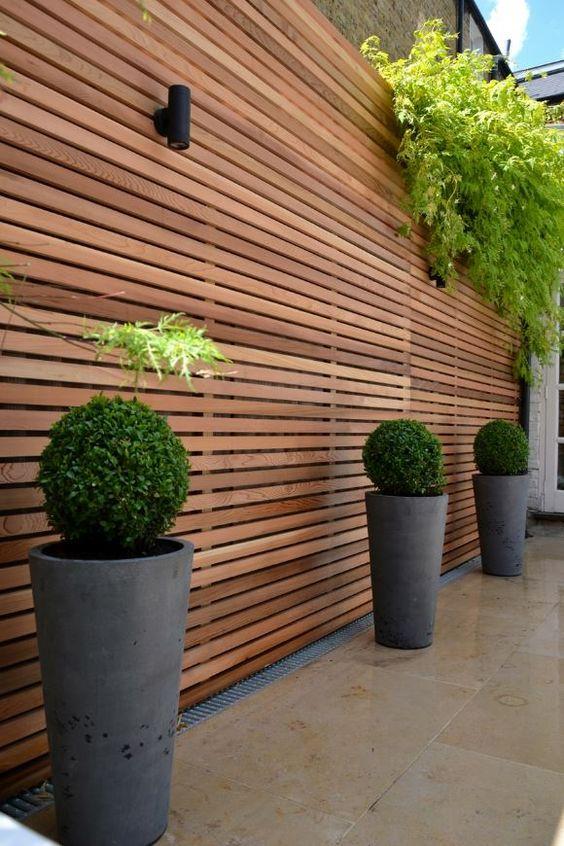 Modern Wood Fence 1