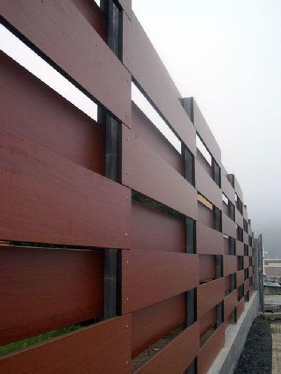 Modern Wood Fence 11