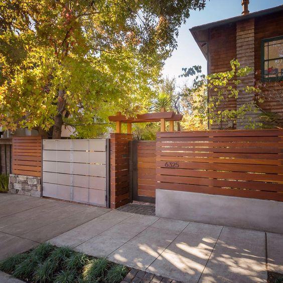 Modern Wood Fence 14