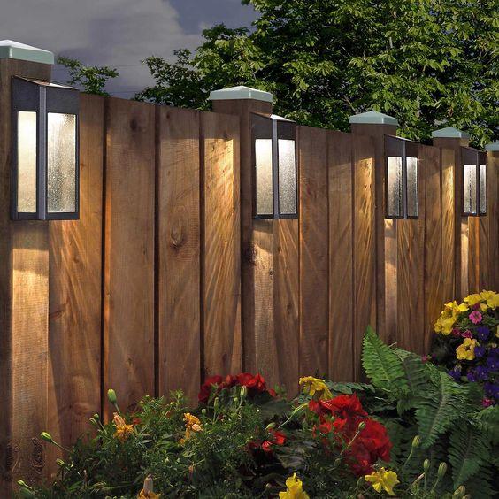 Modern Wood Fence 15