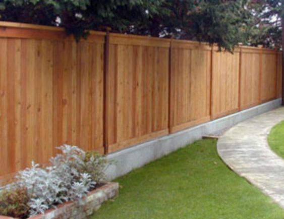 Modern Wood Fence 20