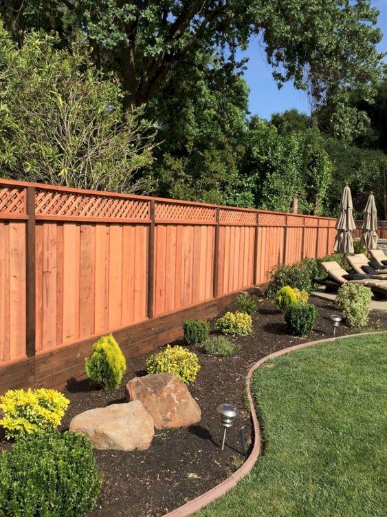 Modern Wood Fence 7