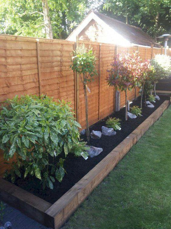 fence landscaping ideas 19