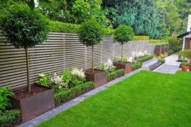 fence landscaping ideas feature