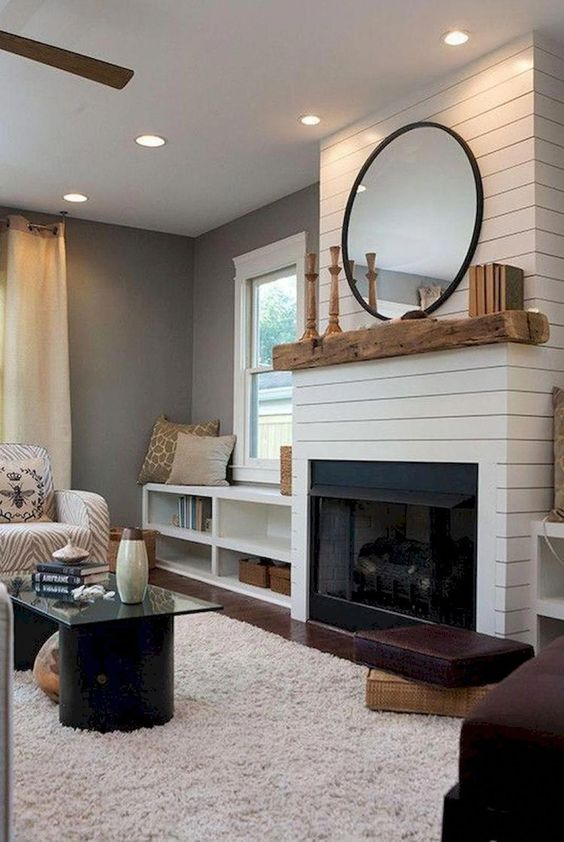modern living room fireplace 14