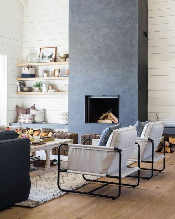 modern living room fireplace 19