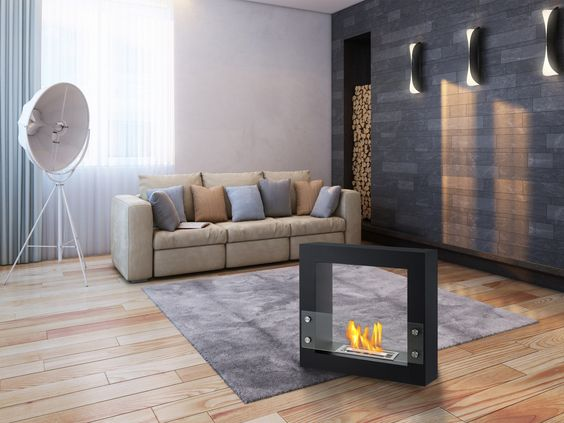 modern living room fireplace 2