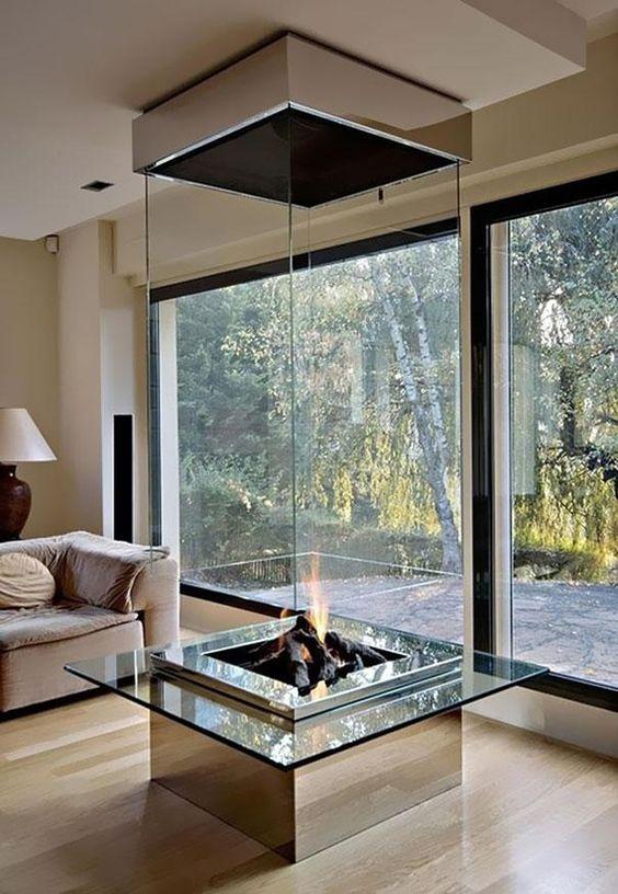 modern living room fireplace 20
