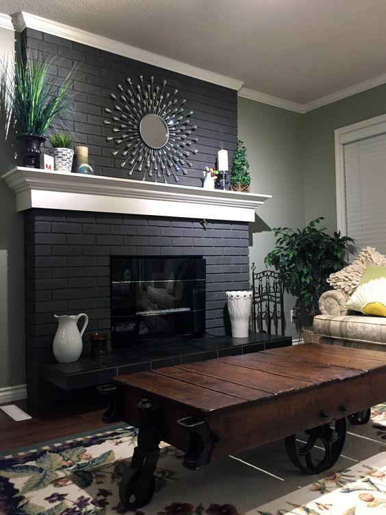 modern living room fireplace 22