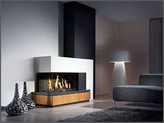 modern living room fireplace 5