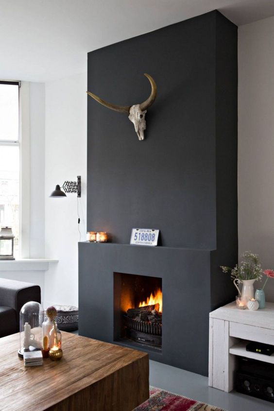 modern living room fireplace 9