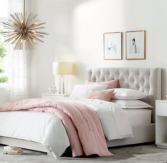 rose gold bedroom 25
