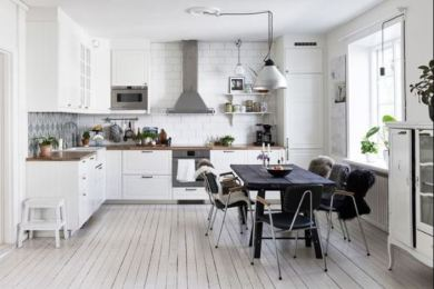 scandinavian kitchen feature
