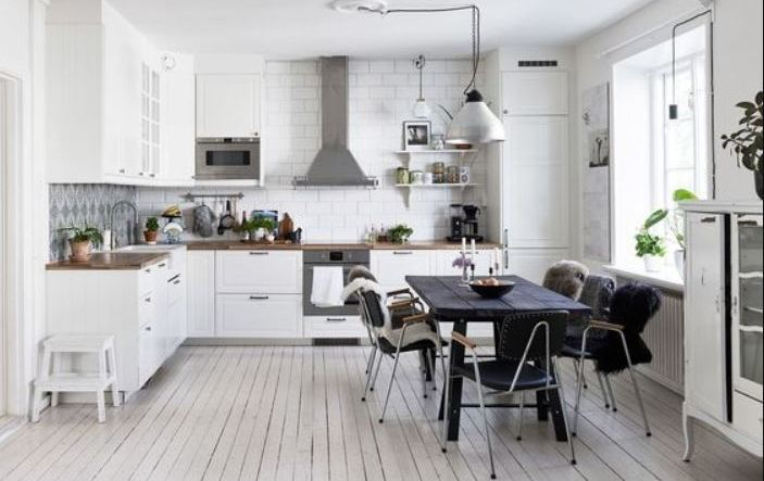 scandinavian kitchen feature