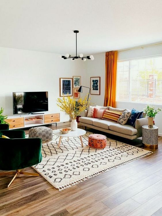 eclectic living room 1