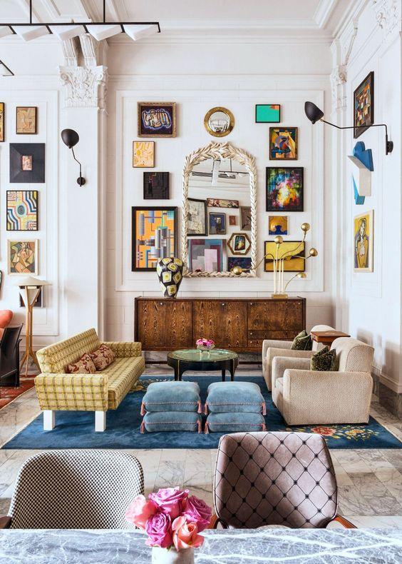 eclectic living room 10