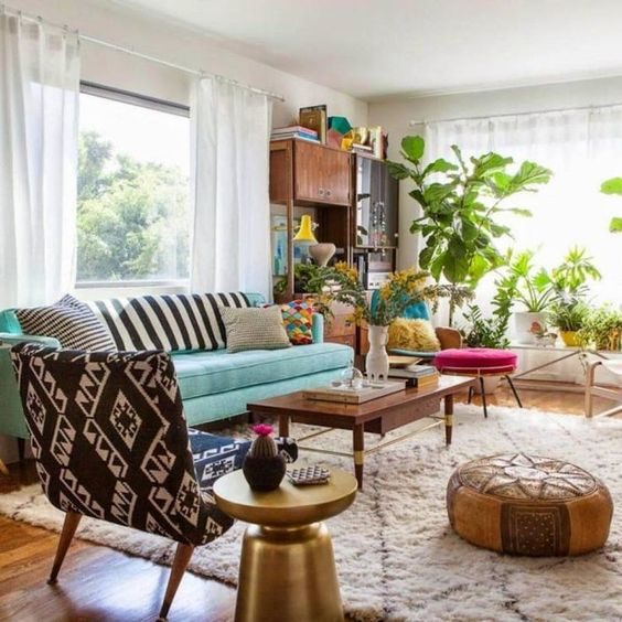 eclectic living room 4