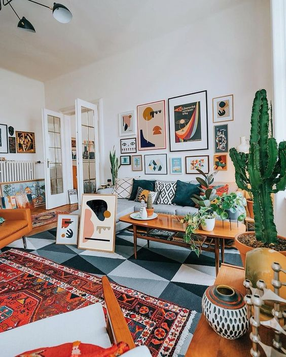 eclectic living room 8