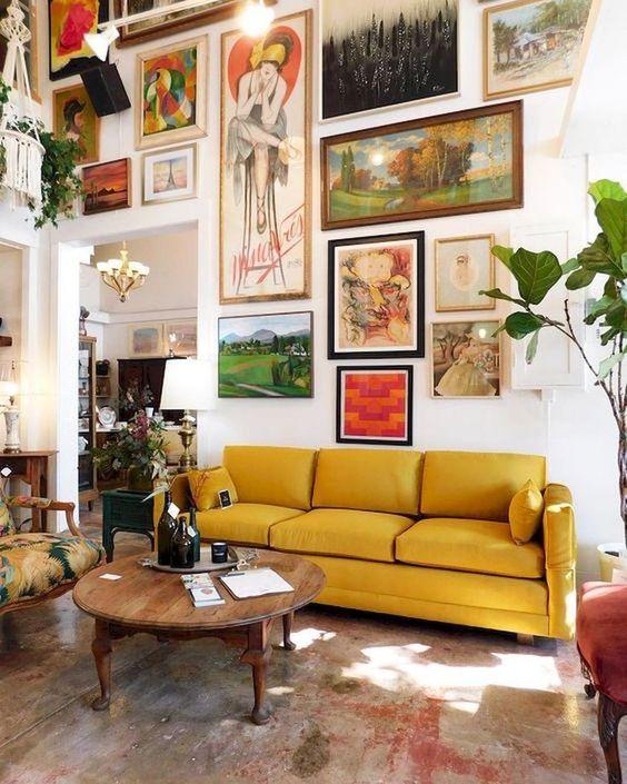 eclectic living room 9