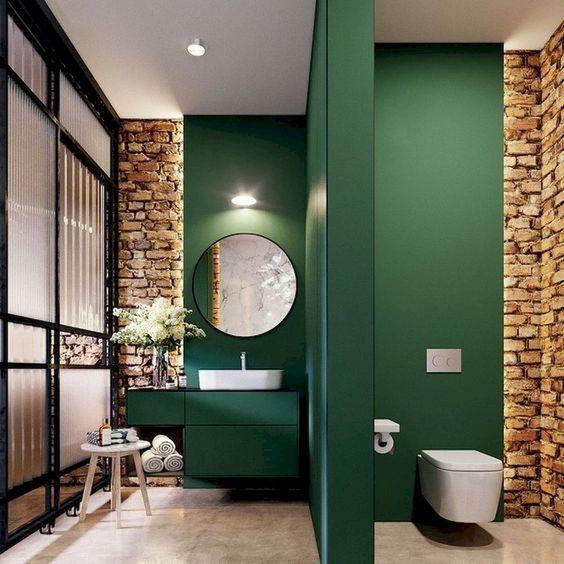 Green Bathroom Ideas: Fresh Rustic Decor