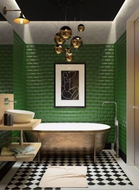 Green Bathroom Ideas: Catchy Decorative Nuance