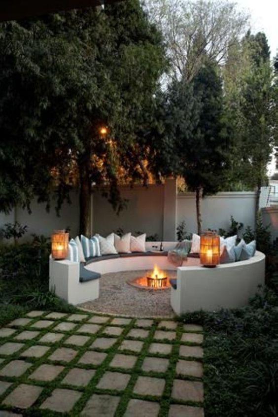 backyard firepit ideas 24