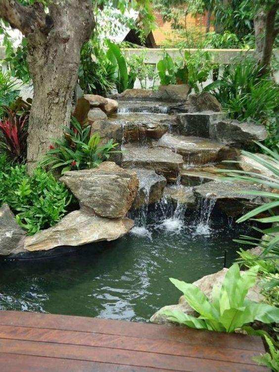 backyard waterfall ideas 25