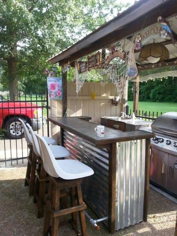 Backyard Bar Ideas: DIY Simple Bar