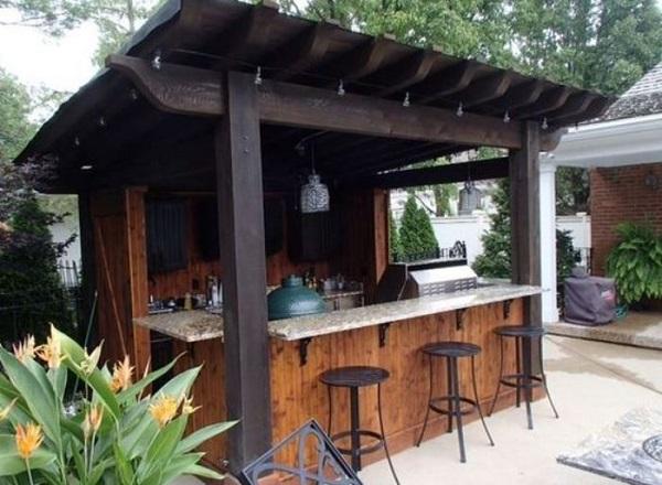 25+ Stylishly Entertaining Backyard Bar Ideas That Will ... on Bar Backyard id=74283