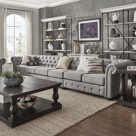 French Country Living Room: Rustic Industrial Decor