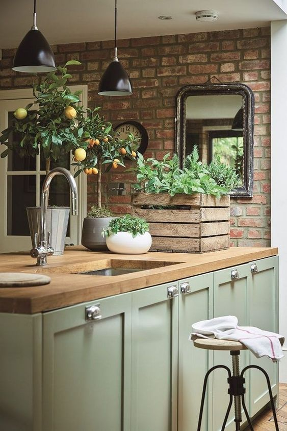 green kitchen ideas 10