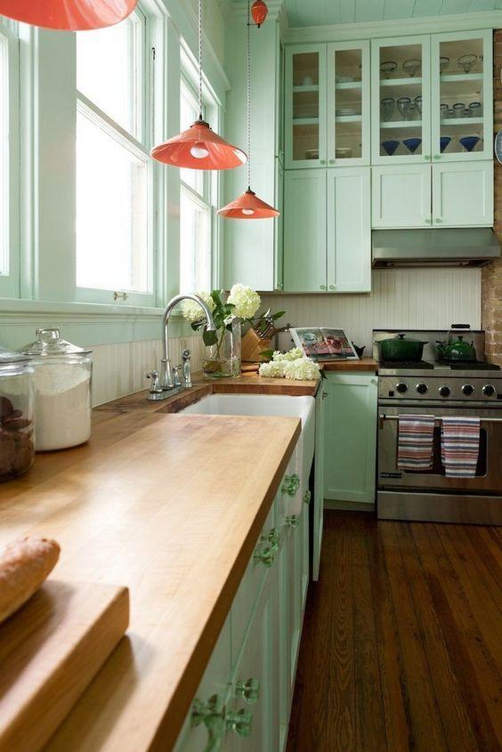 green kitchen ideas 11