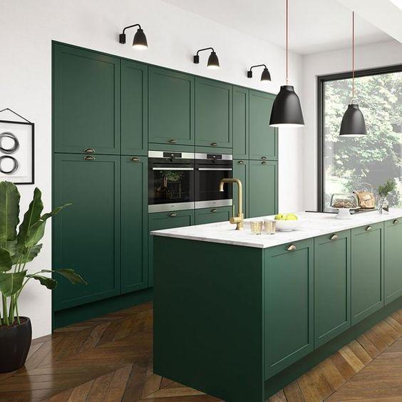 green kitchen ideas 15