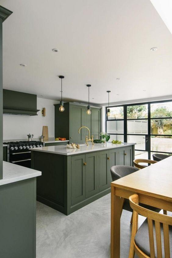 green kitchen ideas 20