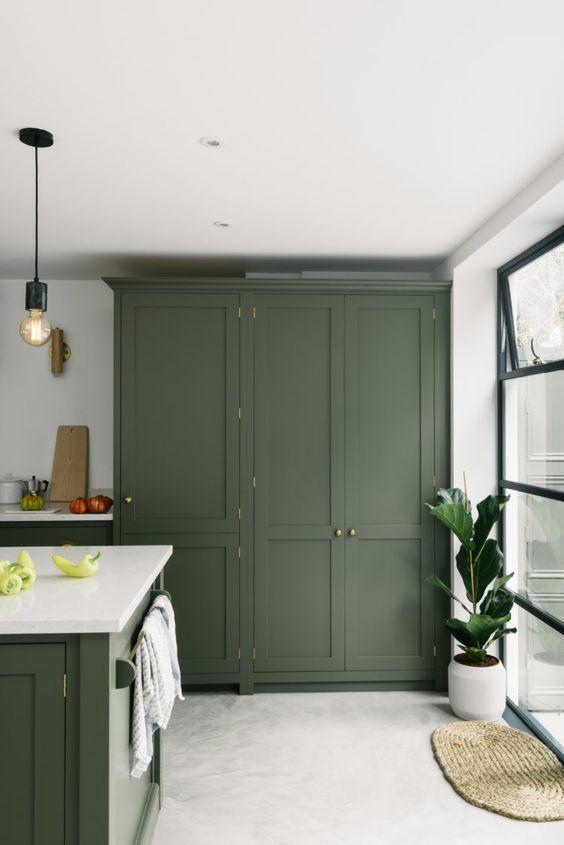 green kitchen ideas 21