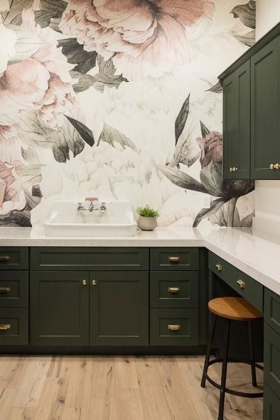 green kitchen ideas 7