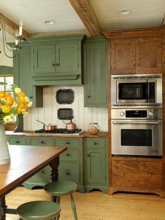green kitchen ideas 8