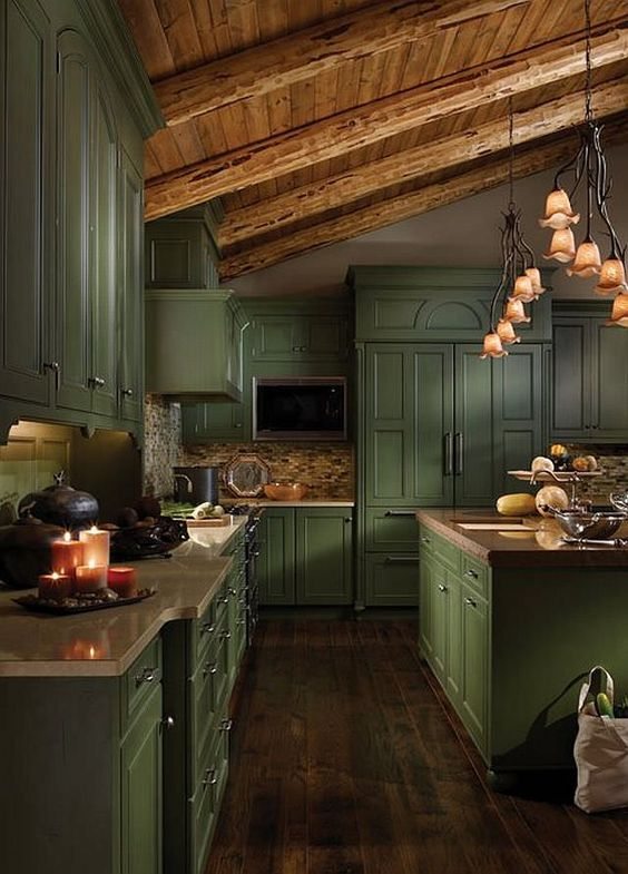 green kitchen ideas 9