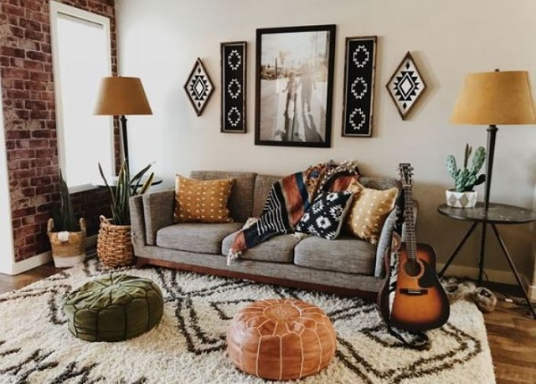 rustic living room feature