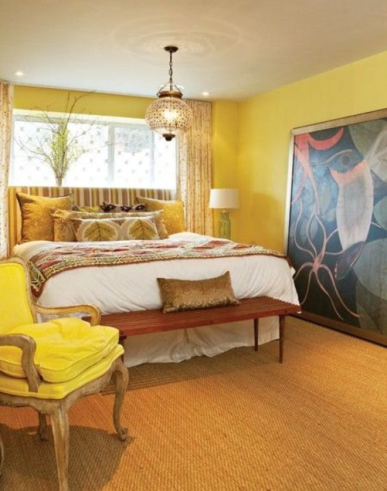 yellow bedroom ideas 16
