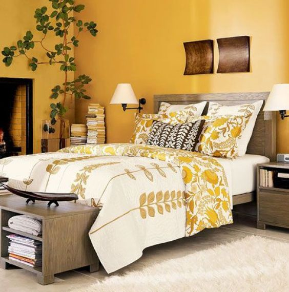 yellow bedroom ideas 18