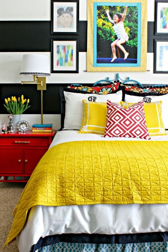 yellow bedroom ideas 9