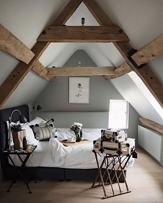 Attic Bedroom Ideas: Neutral Earthy Decor
